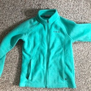 teal fleece columbia size youth L